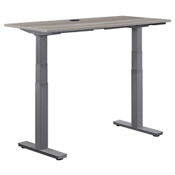 "At Work Adjustable Height Desk - 48""W x 24""D, 16089"