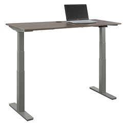 "At Work Adjustable Height Desk - 60""W x 24""D, 16090"
