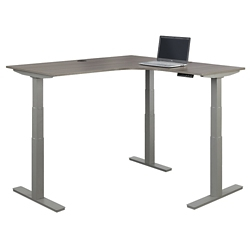 "At Work Height Adjustable Corner Desk -72""W, 16093"