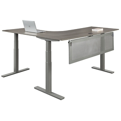 "At Work Corner Desk with Modesty Panel - 72""W, 16101"