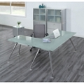 Brilliant Executive Glass L Desk Suite, 16114