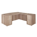 "Formation Bowfront Reversible Executive L-Desk - 71""W, 16144"