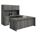 "Formation U-Desk with Fully Reversible Bridge and Hutch - 71""W, 16150"