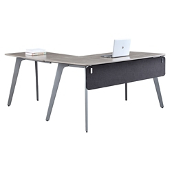 "Portland Compact Reversible L-Desk with Modesty Panel - 60""W x 66""D , 16197"