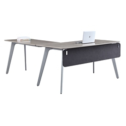 "Portland Compact Reversible L-Desk with Modesty Panel - 60""W x 78""D , 16200"