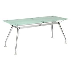 "Brilliant Glass Top Desk - 71""Wx30""D, 16360"