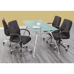 "Brilliant Rectangular Shape Glass Table - 71""Wx35""D, 16361"