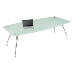 "Brilliant Boat-Shape Glass Table - 95""Wx48""D, 16365"