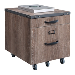 "Rivet 16""W Two Drawer Mobile File Pedestal, 16445"