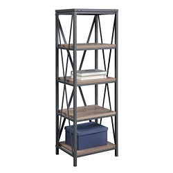 "Rivet 61""H Four Shelf Bookcase, 16446"