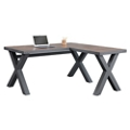 "Rivet Reversible Compact L-Desk - 60""W x 60""D, 16454"