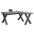 "Rivet Reversible Compact L-Desk - 60""W x 60""D, 16454"