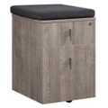 "Portland 16""W Two Drawer Mobile File Pedestal with Cushion, 16467"