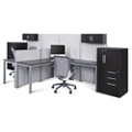 At Work Dual Office Set with Wardrobes, 16486