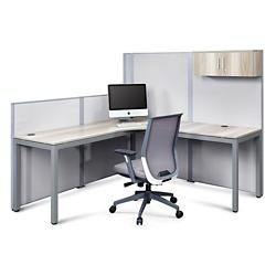 At Work Corner Desk with Panels Set, 16487