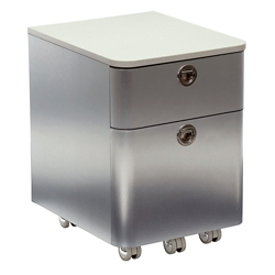 "Brilliant 17""H Two Drawer Laminate Top Mobile Pedestal, 34967"