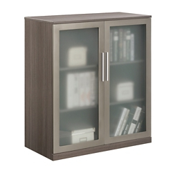 At Work Storage Cabinet With Glass Doors 36749
