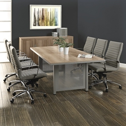 At Work Conference Table and Eight Harper Chair Set - 8 ft , 45089