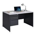 """Carbon Compact Single Pedestal Laminate Top Steel Desk 48""""W x 30""""D, 86536"""