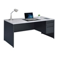 "Carbon Single Pedestal Laminate Top Steel Desk 66""W x 30""D, 86539"