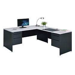 "Carbon Steel L-Desk 66""W x 78""D, 86540"
