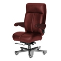 24/7 Big and Tall Chair with Flip Arms in Italian Leather, 50915