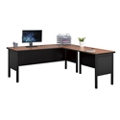 "Stahl Steel L-Desk Shell with Laminate Top - 72""W x 72""D, 11013"