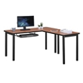 "Stahl Steel L-Desk with Keyboard Tray - 60""W x 60""D, 16058"