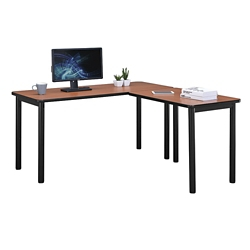 "Stahl Compact Steel L-Desk with Laminate Top - 60""W x 60""D, 11014"