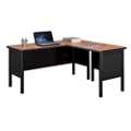 "Stahl Compact Steel L-Desk Shell with Laminate Top - 60""W x 60""D, 11015"