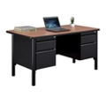 "Stahl Steel Double Pedestal Desk with Laminate Top - 60""W, 11017"