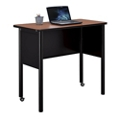 "Stahl Mobile Steel Standing Height Desk with Laminate Top - 48""W x 24""D, 11032"