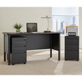 Stahl Steel Compact Desk with Laminate Top and Two Mobile Pedestals, 16139