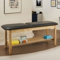 "Vinyl Treatment Table with Shelf 72""W x 27""D, 25271"