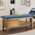 "Vinyl Treatment Table with Drawers 27""D, 25273"
