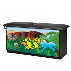 "Pediatric Themed Treatment Table with Two Cabinets - 68""W x 27""D, 25969"