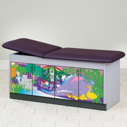 "Pediatric Treatment Table with Hidden Illustrations - 72""W x 27""D, 25970"