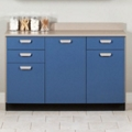 "Three Door Base Cabinet with Three Drawers - 54""W , 26019"