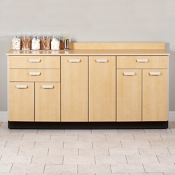 "Six Door Base Cabinet with Three Drawers - 72""W , 26021"