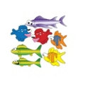 Seven Swimming Fish Pediatric Wall Stickers , 82034