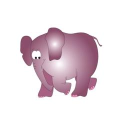 "Elephant Pediatric Wall Sticker - 50""H, 82039"