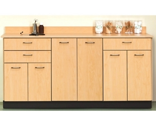 """Six Door Base Cabinet with Three Drawers - 72""""W , 26021"""
