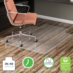 "Classic Chair Mat with Lip 46""W x 60""D for Hard Floors, 54482"