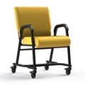 "Vinyl Chair with Locking Casters - 20""H Seat, 26413"