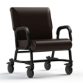 "Vinyl Chair with Locking Casters - 24""W Seat, 26416"