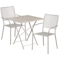 "28"" Folding Table and Two Stacking Chairs, 86309"