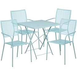 "28"" Folding Table and Four Stacking Chairs, 86310"