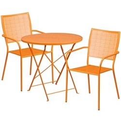 """30"""" Folding Table and Two Stacking Chairs, 86313"""