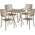 "30"" Folding Table and Four Stacking Chairs, 86314"