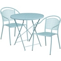 """30"""" Folding Table and Two Stacking Chairs, 86315"""